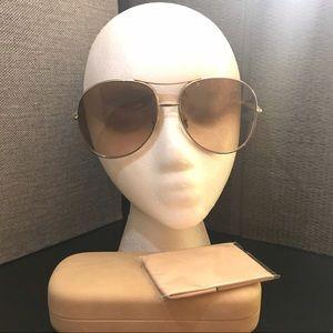 Chloe Nola Brown Gradient Aviator Sunglasses
